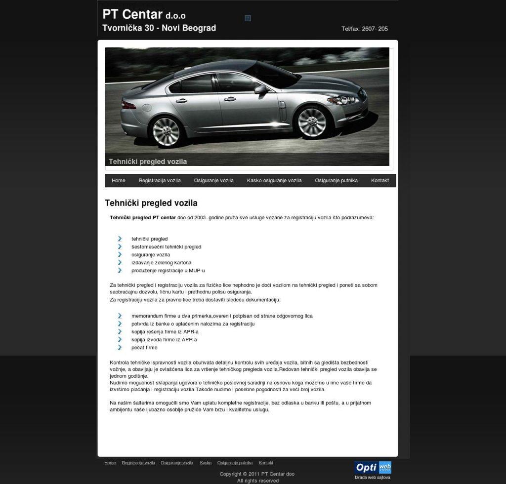 PT Centar naslovna strana sajta
