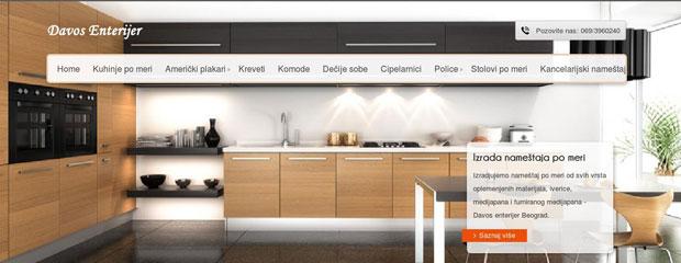 izgleda sajta firme davos-enterijer iz beograda