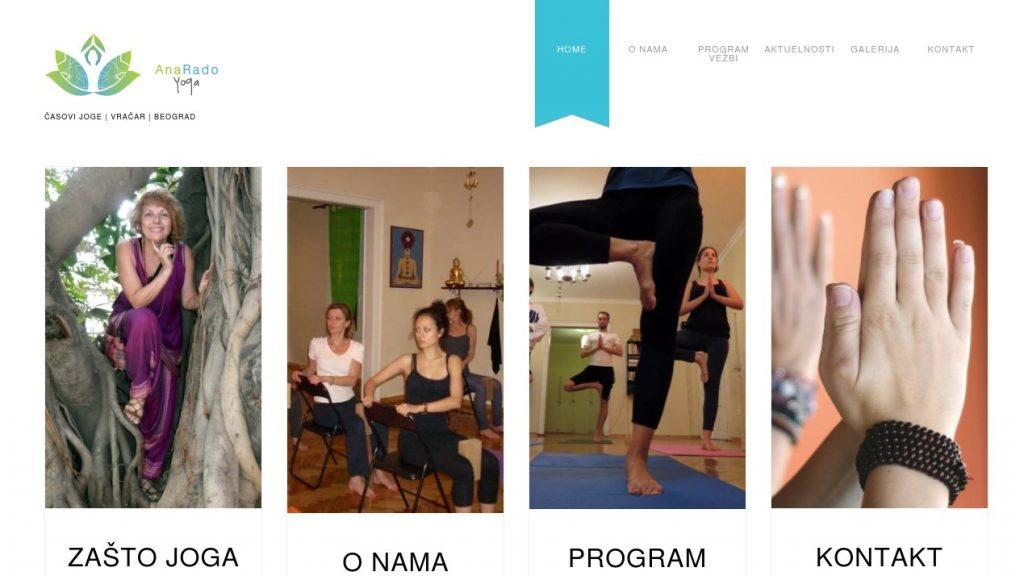 Web sajt Ana Rado Joga